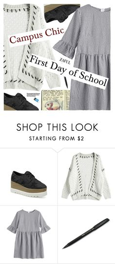 """""""Campus Chic: First Day of School"""" by pokadoll ❤ liked on Polyvore featuring Moleskine and Hedi Slimane"""
