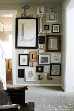 lovely collection of frames hides the thermostat really well entryfoyer pinterest thermostats craftsman and minis
