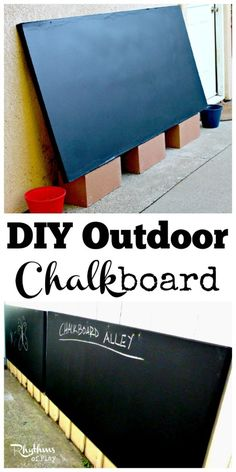 Make your own outdoor Chalkboard using these easy tips and tricks!