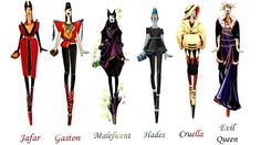 I've just realized I'm more like the Villains than any of the Disney heroes : Sashii-Kami's Disney Villains - Total outfit inspiration!