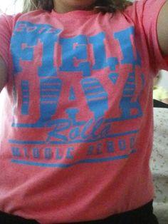 This is my field day shirt. School Spirit Wear, Field Day, How To Wear, T Shirt, Supreme T Shirt, Tee Shirt, Tee