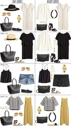 14 Day Caribbean Resort Packing List Part 2 - livelovesara What to pack for a Caribbean Cruise? I have a Cruise packing list to help you on your way. Head over to my post for what to pack and outfit ideas. Capsule Wardrobe, Travel Wardrobe, Mode Ab 50, Caribbean Resort, Caribbean Cruise Outfits, Summer Cruise Outfits, Travel Outfit Summer, Summer Travel, Packing List For Cruise