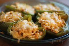 Chicken and White Bean Stuffed Peppers | Skinnytaste