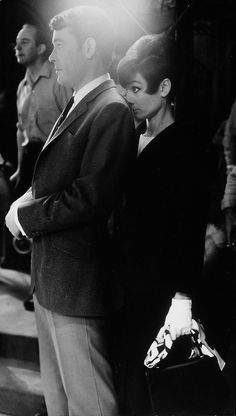Peter O'Toole and Audrey Hepburn, on the set of How To Steal a Million 1966