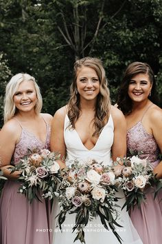 Modern floral embroidered lace adds rich texture to this A-line chiffon gown, Cameron. Cameron's delicate spaghetti straps cascade into a unique keyhole illusion back. This versatile floral lace pattern provides a unique flair to a classic style. Perfect for any season or destination, this embroidered lace bridesmaid dress adds ornate detail to your wedding vision. Find your perfect bridesmaid dresses online at Kennedy Blue!   desert rose wedding ideas   hairstyles for bridesmaids   bridal party Rose Bridesmaid Dresses, Affordable Bridesmaid Dresses, Beautiful Bridesmaid Dresses, Brides And Bridesmaids, Elegant Wedding Themes, Wedding Ideas, Spring Weddings, Chiffon Gown, Desert Rose