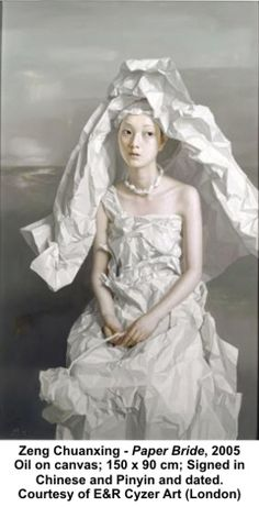 2005 'Paper Bride' by Zeng Chuanxing (b1974; Longchang County, Sichuan Province)