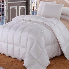 Royal Hotel California King Size Dobby Checkered White goose Down-Comforter 100 % Cotton Shell -Luxury Duvet Insert 40 oz. fill by Wholesalebeddings