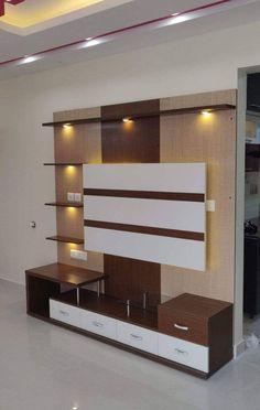 Tv Stand Modern Design, Modern Tv Unit Designs, Modern Tv Wall Units, Living Room Tv Unit Designs, Living Room Partition Design, Bedroom Door Design, Tv Wall Design, Tv Unit Furniture Design, Tv Unit Interior Design