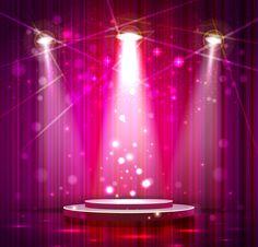 [フリーイラスト素材] イラスト, 舞台 / ステージ, 劇場, 光 / ライト, スポットライト ID:201312250500 - GATAG|フリーイラスト素材集