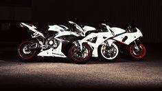 three of the most popular honda motorbikes