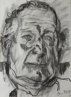 Andrew James...Robert Stewart  2000  Charcoal on Paper  20 x 14/ 51 x 36