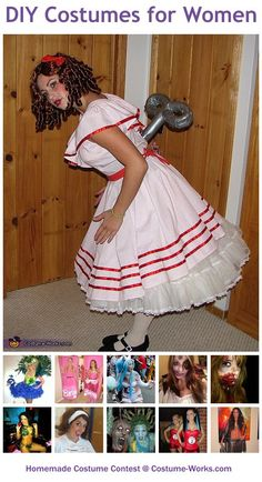Homemade Costumes for Women - a huge gallery of homemade Halloween costumes!