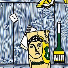 Roy-lichtenstein-trompe-loeil-with-leger-head-and-paintbrush-1973-beyeler