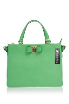 4dcb36fb4547 -Salvatore Ferragamo- Calf Strings and Tassel Tracy Bag Green   SalvatoreFerragamo  Handbags Green