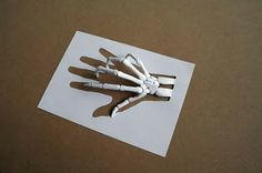 Peter Callesen. Skeleton hand
