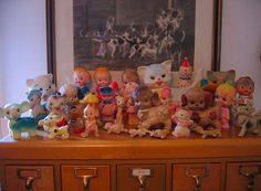 vintage squeak toys...these aren't dolls, per se, but somehpw I branched off into these once, and I have most of these!
