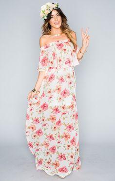 Hacienda Maxi Dress - Pink Poppi | Show Me Your MuMu