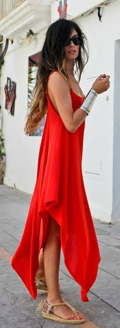 #street #fashion red dress summer @wachabuy