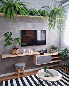 Living Room Tv, Apartment Living, Home And Living, Apartment Interior, Living Room Designs, New Homes, House Design, Design Design, Design Ideas