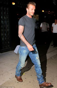 Stepping out solo: Later in the evening, the footballer headed out for dinner at New York's Mais Ono eatery