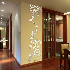 Generic creative circle ring acrylic mirror wall stickers home room decor decals sl Wall Stickers Circles, Wall Stickers Grass, 3d Mirror Wall Stickers, Wall Stickers Room, Flower Wall Stickers, Vinyl Room, Vinyl Art, Personalized Wall Decals, Living Room Murals
