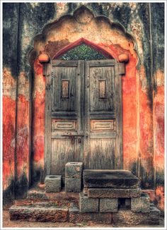 Love this whole look!   See some rustic watercolor art of doors & windows at http://valerie-garner.artistwebsites.com/art/all/painting/all