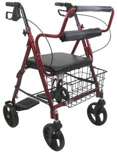 Wheelchairs Karman Healthcare R-4602-T-BD Aluminum 2-in-1 Rollator/Transport, Burgundy, 8 Inches Casters -- This is an Amazon Associate's Pin. Detailed information can be found on Amazon website by clicking  the VISIT button.