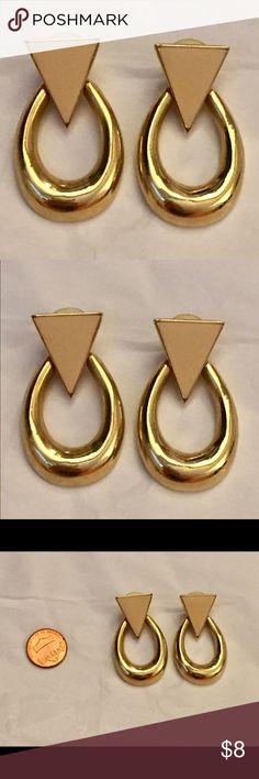Vintage triangle door knocker earrings Great condition Vintage Jewelry Earrings