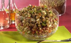 Salada morna de lentilha | Acompanhamentos > Lentilha | Receitas Gshow