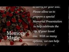 memorial presentationsmemory magic - dvd slideshows | for your, Powerpoint templates