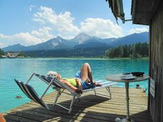 Relaxing lakeside in Finkenstein, Austria. Visit Austria, Carinthia, Joan Baez, Hotels, Central Europe, Salzburg, Alps, Budapest, Beautiful Places