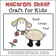 Macaroni Sheep Bible Craft for Preschool Children from www.daniellesplace.com