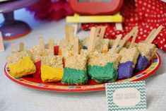Chevron Rainbow Art Birthday Party Ideas | Photo 2 of 40 | Catch My Party