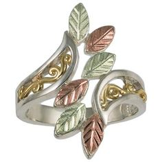 Women's Coleman® Black Hills Gold Sterling Silver Filigree Ring