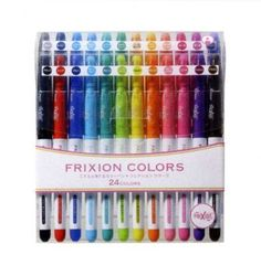 Pilot FriXion Colors Erasable Marker Pen - 24 Color Set by Pilot, http://www.amazon.com/dp/B00BJSRW7Q/ref=cm_sw_r_pi_dp_-27.rb14MRJ0W