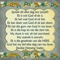 Wees wie God sê jy is...(Spreek die Woord) #Afrikaans #2bMe