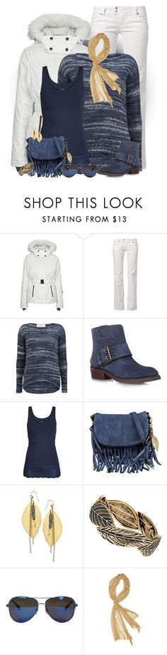 """""""Blue Suede Booties & Golden Leaves"""" by hollyhalverson ❤ liked on Polyvore featuring Topshop, MET, Vero Moda, Nine West, ONLY, ALDO, Liz Larios, Dorothy Perkins, MICHAEL Michael Kors and Betsey Johnson"""