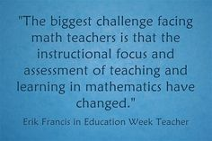 What's the biggest challenge facing math teachers and how do we solve it? Read on for ideas. Education Week, Instructional Design, Guided Math, Big Challenge, Math Teacher, Math Resources, Mathematics, No Response, Leadership