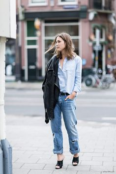 5 IDEAS TO MAKE BOYFRIEND DENIM LOOK FEMININE