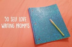 Journaling is an incredibly powerful tool to boost your feelings of self love, worth, esteem, & confidence. Here's a list of fifty prompts to get you going!