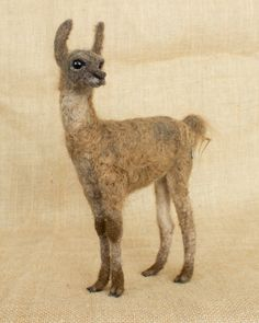 Percy the Llama Cria: Needle felted animal sculpture by The Woolen Wagon. Plush Animals, Felt Animals, Wet Felting, Needle Felting, Animal Tails, Needle Felted Animals, Felt Hearts, Animal Sculptures, Stuffed Animal Patterns
