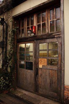 Old wooden doors. Old Wooden Doors, Old Doors, Windows And Doors, Front Doors, Wooden Room, Panel Doors, Cafe Interior, Interior And Exterior, Interior Doors