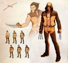 Wolverine Redesign by DanielHeard on DeviantArt Marvel Wolverine, Wolverine Costume, Logan Wolverine, Marvel X, Chibi Marvel, Marvel Comic Character, Marvel Characters, Character Art, Character Design