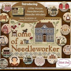 Zappy Dots Little House Needleworks - Stitch Designers - Needle Nannies, Tins & Fobs Little House Needleworks, Needle Minders, Sewing Notions, Needle And Thread, Cross Stitching, Tricks, Dots, Embroidery, Quilts