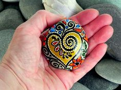 painted rock...this is my idea of painted rocks! :)