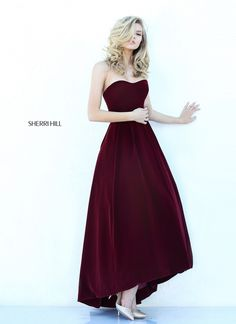 Unique Design Burgundy Sweetheart Neckline Sherri Hill 50735 A-line Prom Dress