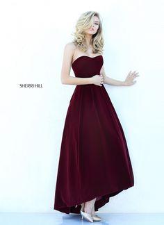 Unique Design Burgundy Sweetheart Neckline Sherri Hill 50735 A-line Prom Dress
