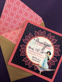 Custom Jasmine Birthday Invitation