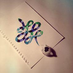 #snake #infinity #watercolor