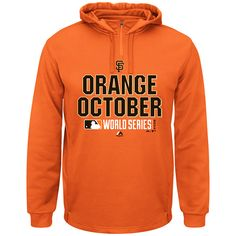 San Francisco Giants 2014 World Series Orange October Hood - MLB.com Shop